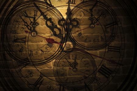 Clock on the wall Foto de archivo