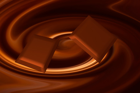 liquid chocolate: chocolate pieces