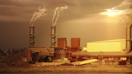 polluting: Industrial plant
