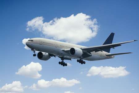 boeing: Plane in the sky. Stock Photo