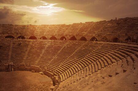 antique theatre ruins from Antalya, Turkey
