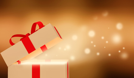 gift packs: Shiny Gift box. Stock Photo