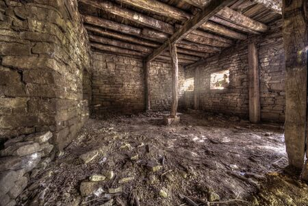 abandoned room: Dark and abandoned interior of a room Stock Photo