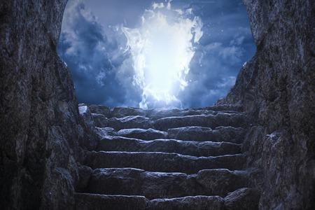 Gates a mennybe Stock fotó