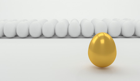Leadership concept with golden egg Stock Photo