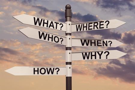 方向標識の「なぜここにいるんですか?」