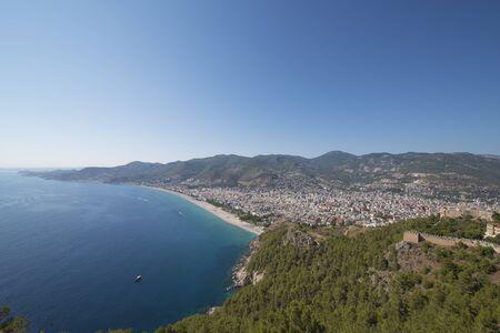 alanya: city beach of Alanya, Antalya, Turkey Stock Photo