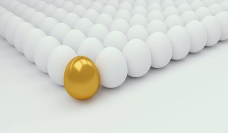 business symbols metaphors: Business Concept with golden egg