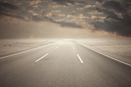 endless road: Long endless road
