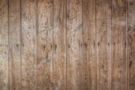 oak wood: Dark Brown wood plank wall texture background Stock Photo