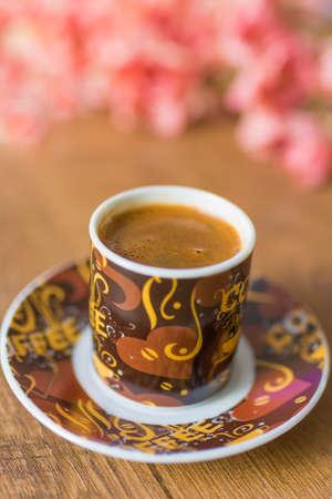 invigorate: Fresh delicious turkish coffee Stock Photo