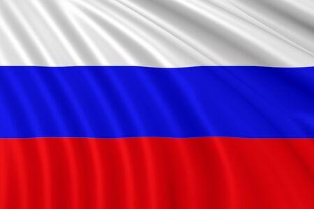 bandera rusia: Rusia agita la bandera 3d