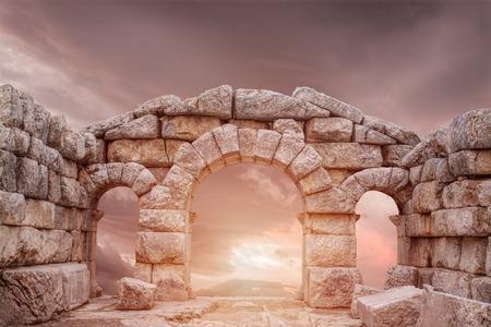 Ruins of ancient temple in Turkey, Adana Stockfoto