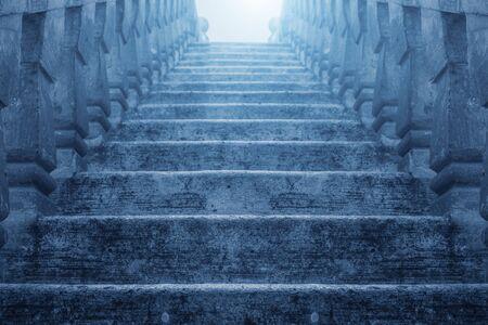 upstairs: Dark Upstairs to the light