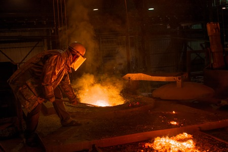 smelting plant: Hard work in a Foundry, Melting Iron