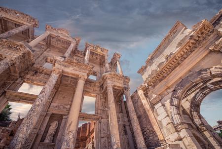 architrave: Celsus Library in Ephesus, Turkey
