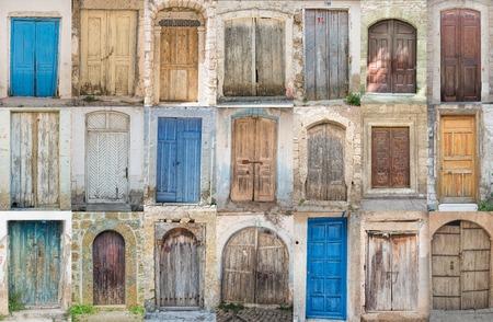 old doors: Collage of the ancient doors