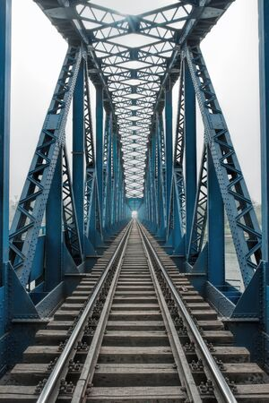 railroads: Railroad bridge of steel