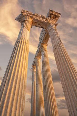 apollo: temple of apollo , side Turkey Stock Photo