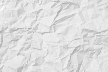White crumpled paper for background image