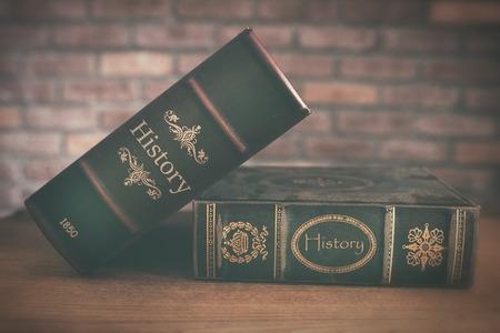 libro de historia antigua de cerca Foto de archivo