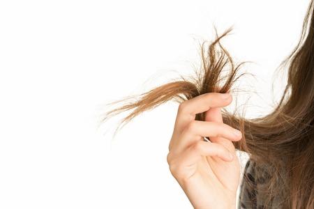 weibliche Enden der Haarpflege Probleme