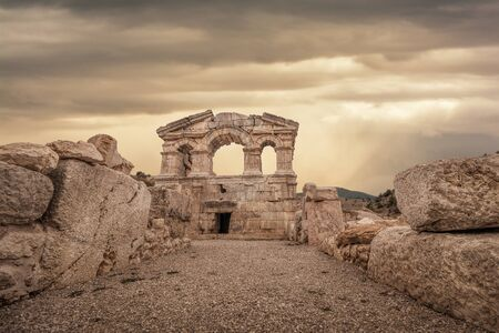 stoney: ancient ruins in Tufanbeyli,Adana Stock Photo