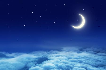 Night sky with stars and moon Reklamní fotografie