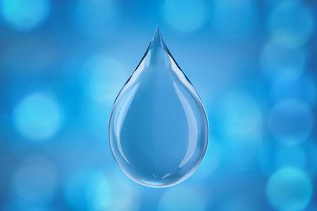 glass water: Crystal water drop,3d rendering