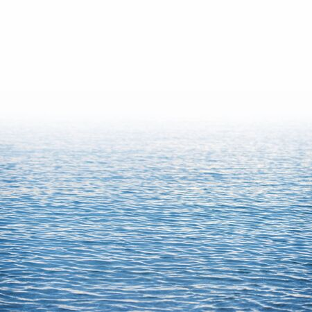 Blue water surface background isolated on white