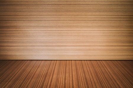 empty wooden backdrop with spotlight. Wood table top Stock Photo