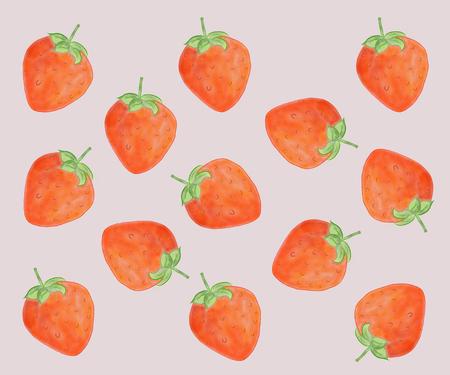 Strawberry fruit seamless pattern background. pink background