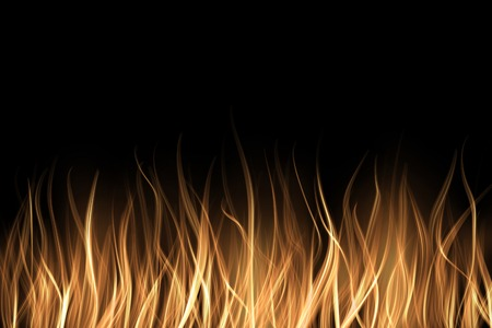 Abstract fire flame light on black background illustration.Realisctic Burning flames