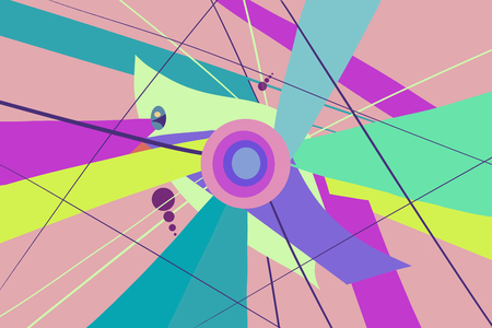 Modern colorful flow poster background. Geometric shapes. Abstract design Фото со стока - 122817309
