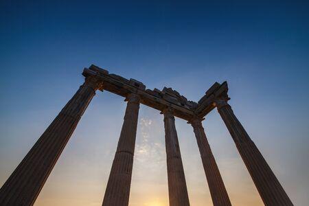 Temple of Apollo on sunset in Side, Turkey. Reklamní fotografie