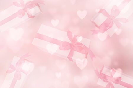 pink colored romantic heart shaped background for valentines day. Banque d'images - 138461190
