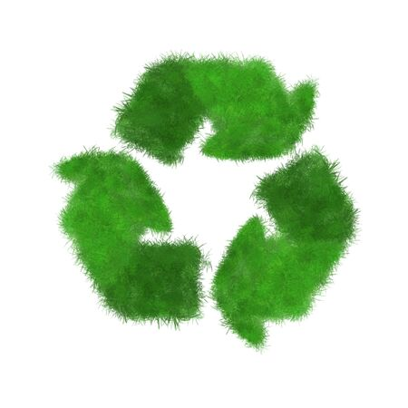 Symbol of recycling on white background. Protection nature and future concept Stock Photo