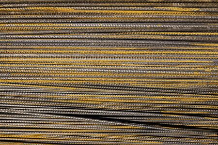 Iron bars metal rod construction and building, steel reinforcement bar pattern and background for textures. High quality photo