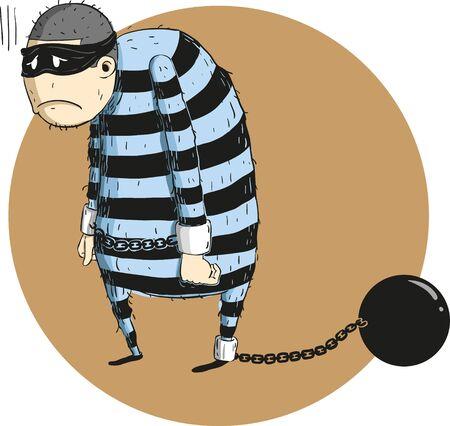 criminal: criminal arrested I Illustration