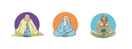 three variations hermit or wiseman