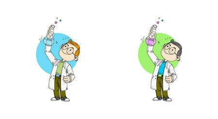 A boy aspires to be a scientist Illustration
