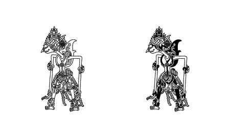 wayang kulit rama (outline and black)