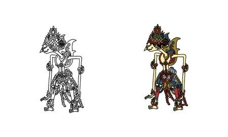 wayang kulit rama (outline and color)