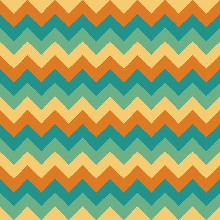 Chevron pattern seamless vector arrows geometric design colorful beige cream orange teal turquoise