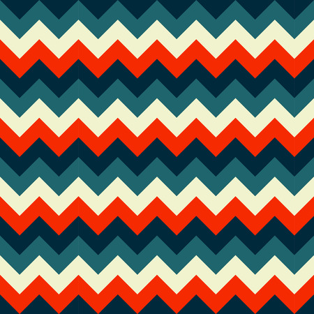 Chevron pattern seamless vector arrows geometric design colorful white red dark blue turquoise teal