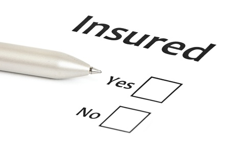 home insurance: insurance or risk business concept