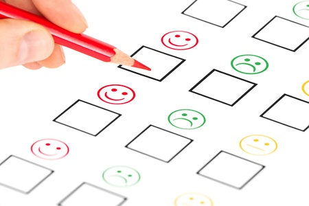 customer satisfaction questionnaire showing marketing or business concept Stock Photo - 15347928