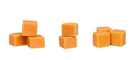 Diversi gruppi di caramella, isolato su uno sfondo bianco