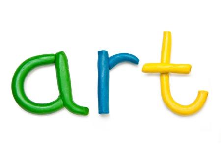 Plasticine word Art Stock Photo - 15537104