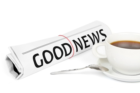 Good news message on work place Stock Photo - 15537107